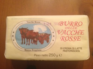 """Butter imported from Emilia-Romagna produced from the same milk used for Parmigiano-Reggiano.  Perfect for a simple """"burro e salvia"""" - butter & sage - pasta """"condimento"""""""