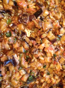 My take on my mother's take on my grandmother's caponata -- each version pf this recipe is in our family vault!