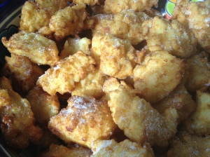 My version of sweetened rice fritters for Carnevale