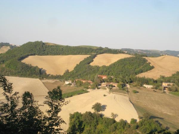 View of the countryside from La Valle del Vento in Le Marche