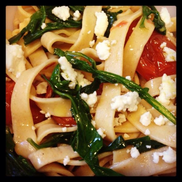 Tagliatelle di Farro con Rucola e Pomodorini