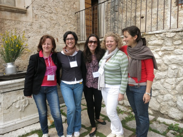 From left: Emiliana, Giulia, me, Katy, Susanna