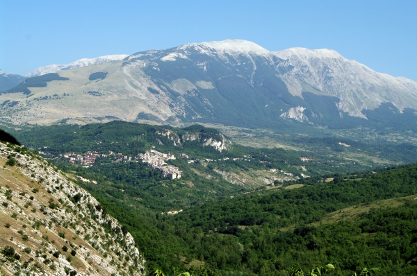 View of La Majella from my dad's village of Salle in Abruzzo